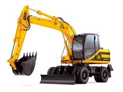 Аренда экскаватора на гусеничной или колёмсной базе ходовой части для строительных работ.